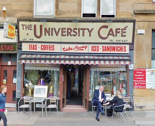 The university cafe Glasgow best ice cream Glasgow