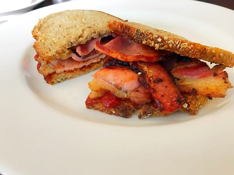 Chapel House - breakfast bacon sandwich