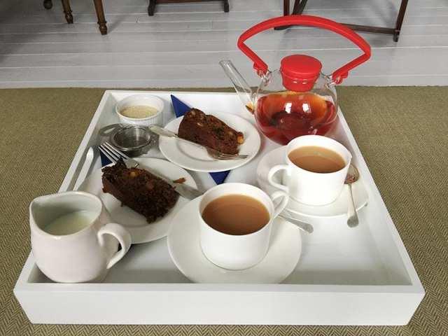 Chapel House, Penzance - welcome tea and cake