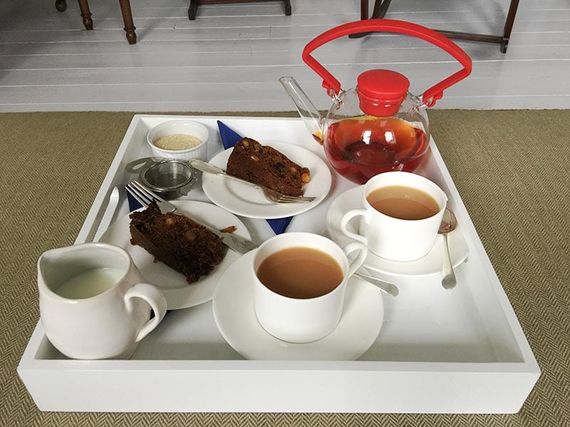 Chapel House, Penzance - welcome tea and cake