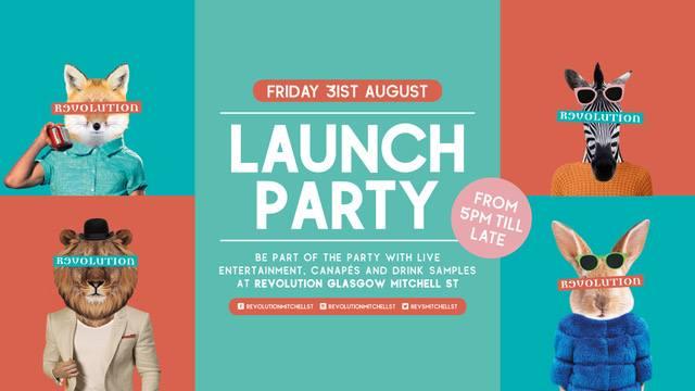 Revolution Mitchell street Glasgow cocktail bar launch ticket foodie explorers