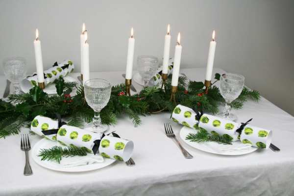 Annabel james Christmas Crackers Brussels sprouts