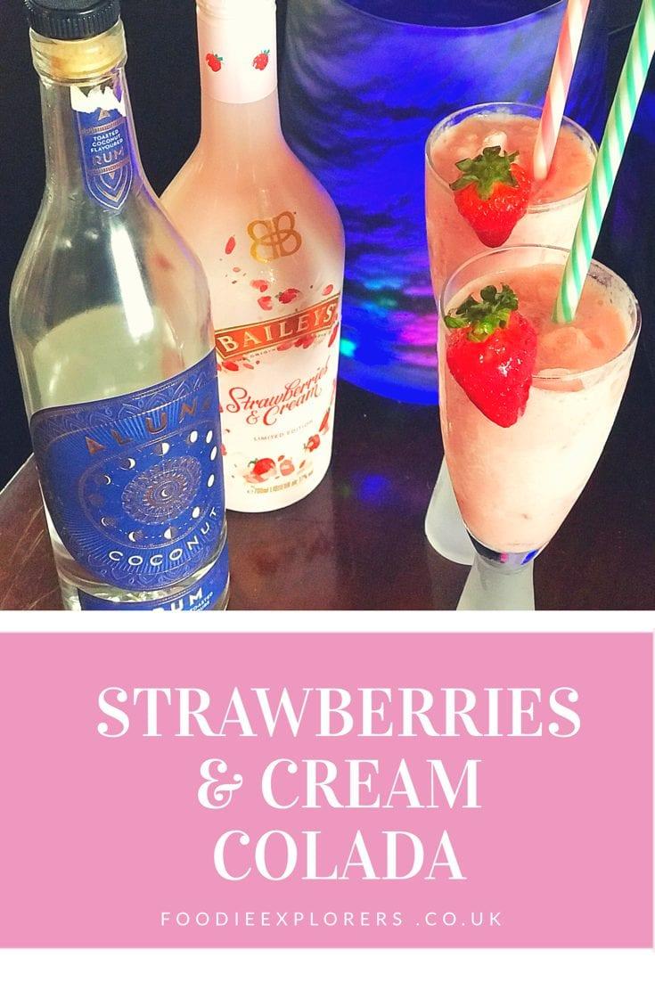 Baileys Strawberries and cream colada cocktail recipe