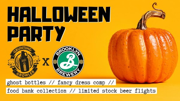 Grunting growler Halloween Brooklyn brewery