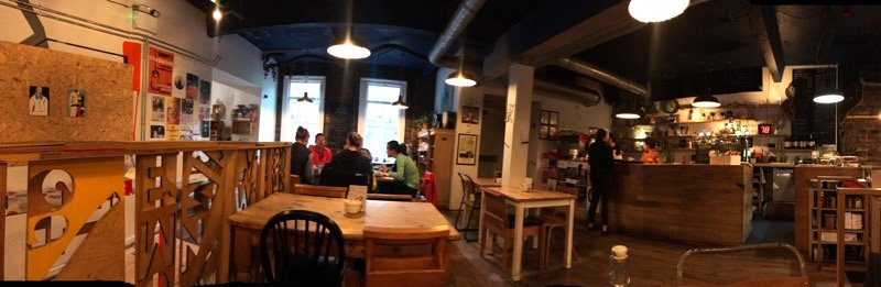The glad cafe hen of the Woods vegan vegetarian brunch Glasgow