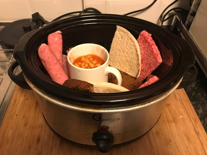 How to cook a fry-up breakfast in a slow cooker recipe