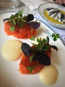 Parsons seafood restaurant Covent Garden London