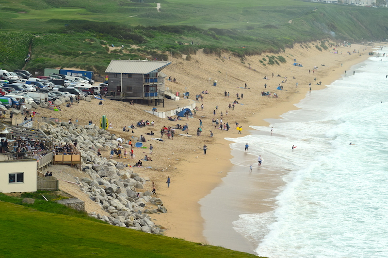 The Headland Hotel - Fistral beach view