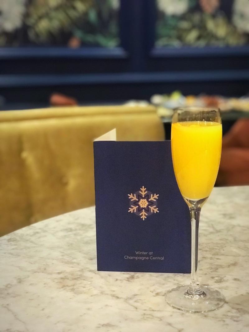 Winter warmer Winter cocktail menu champagne central