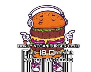 Durty vegan burger club winter bbq
