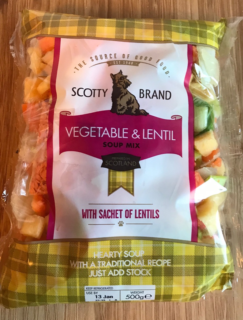 Scotty Brand lentil and vegetable soup recipe