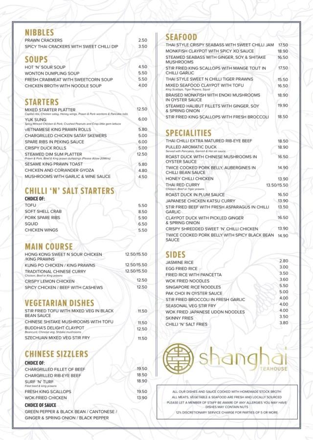 Shanghai Teahouse Bothwell chef jimmy lee