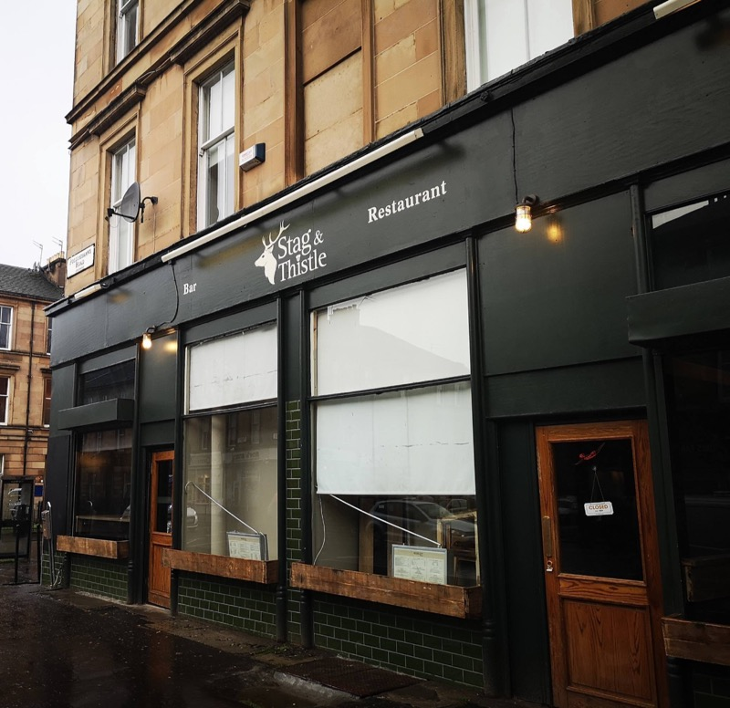 Stag and thistle south side Glasgow bar restaurant