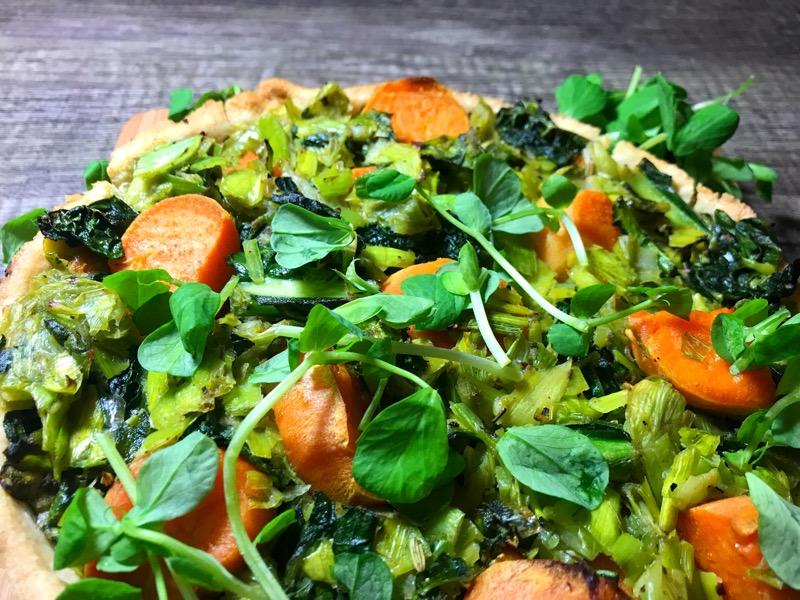 leek kale and sweet potato tart recipe british leek association