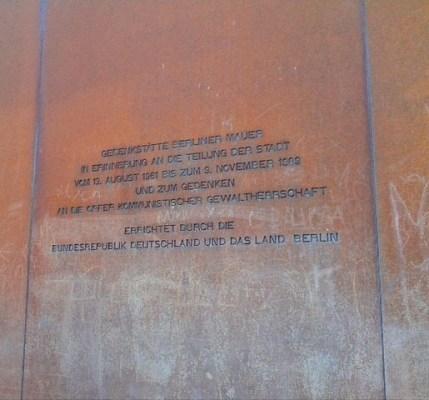 Berlin Wall Memorial Bernauer Strasse