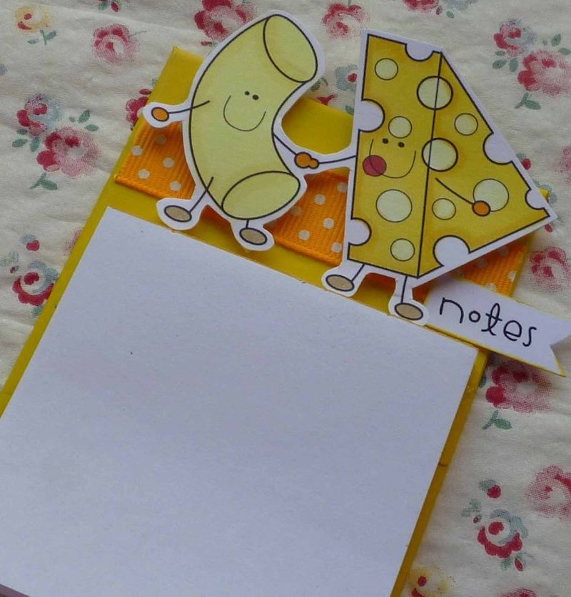 mac and cheese magnetic notepad