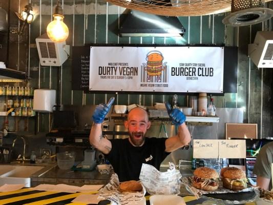 durty vegan burger club glasgow