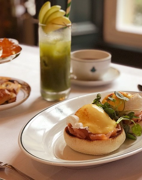 The Ivy Glasgow brunch Eggs Royale