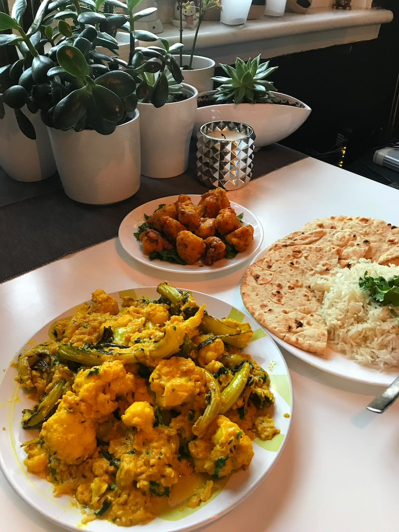cauliflower korma recipe