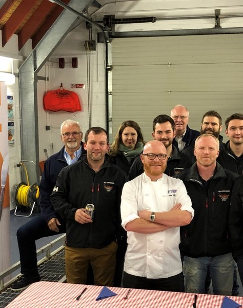Gary Maclean Masterchef RNLI fish supper