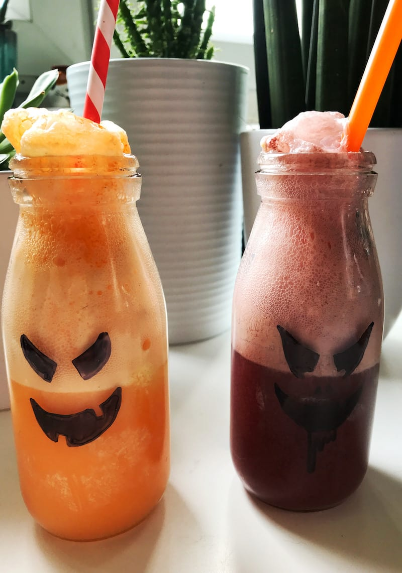 scary halloween fanta ice cream float