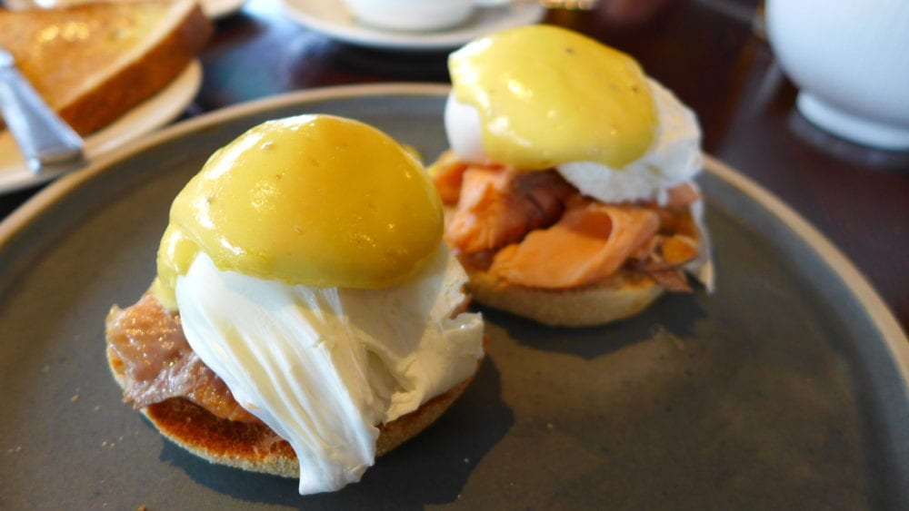 Bridge of Orchy hotel food Eggs Royale
