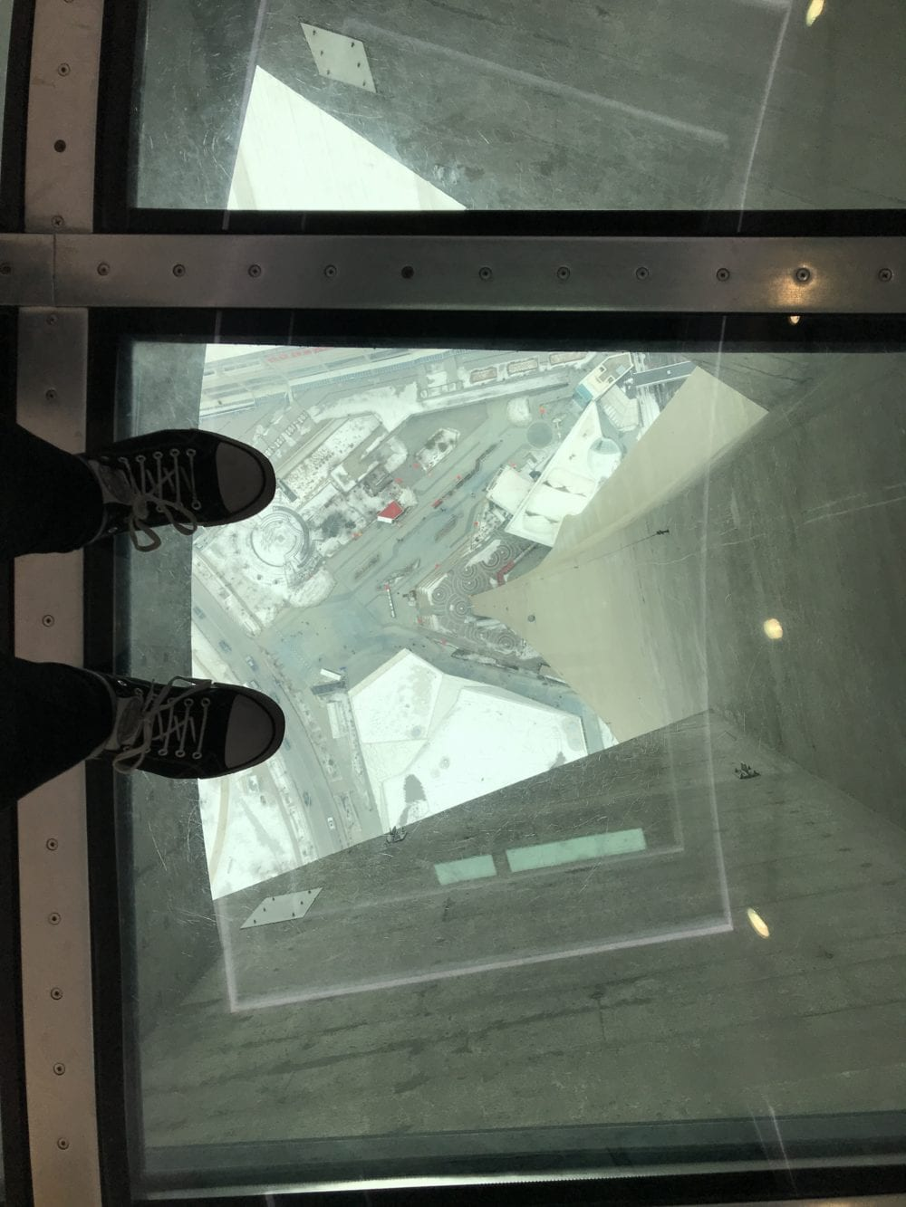Glass floor CN Tower Toronto Canada