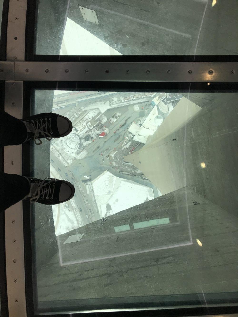 Glass floor CN Tower Toronto Canada
