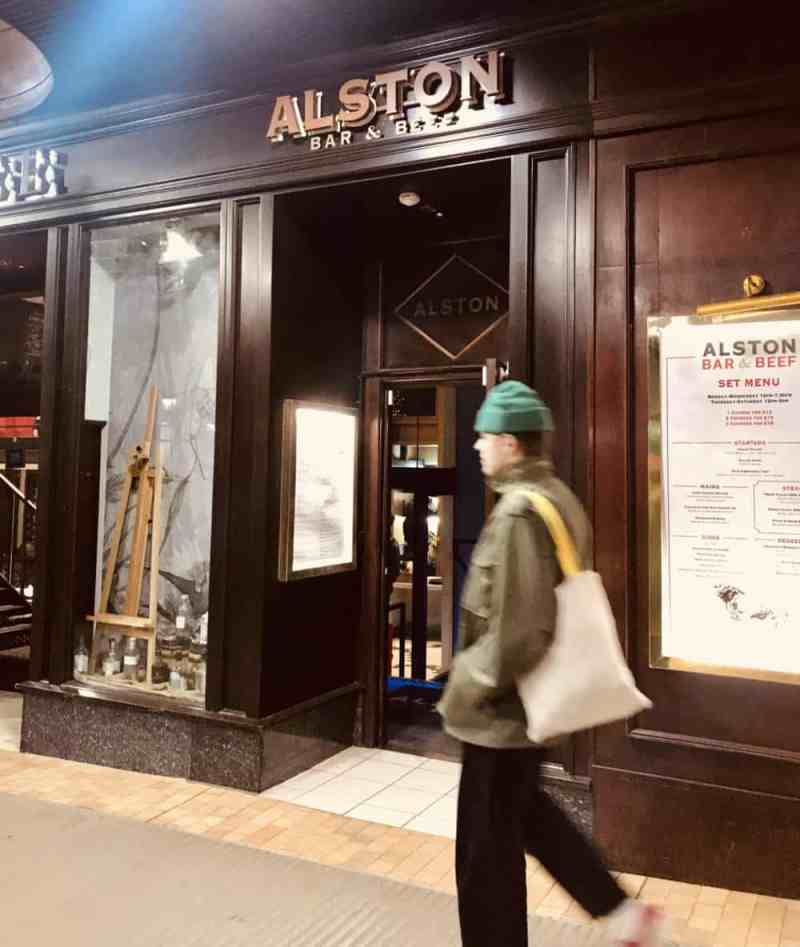 Alston bar and beef Glasgow outside