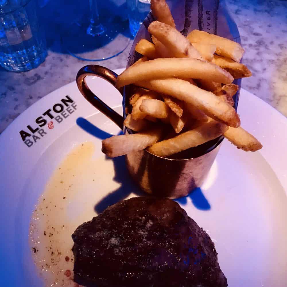 Alston bar and beef Glasgow Main course flat iron steak