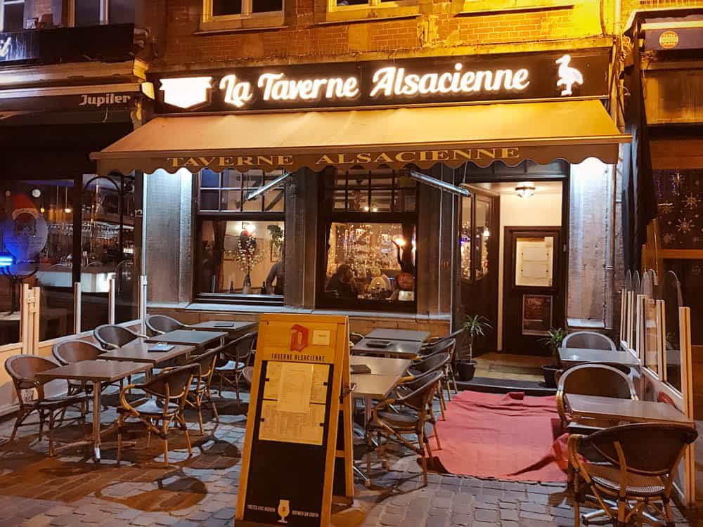 Tavernne Alsacienne Namur Belgium outside