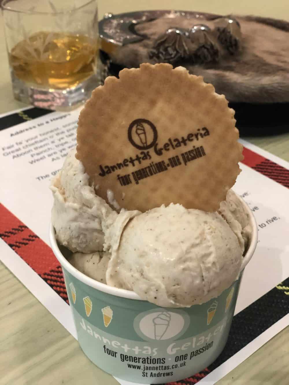 jannettas st andrews haggis ice cream