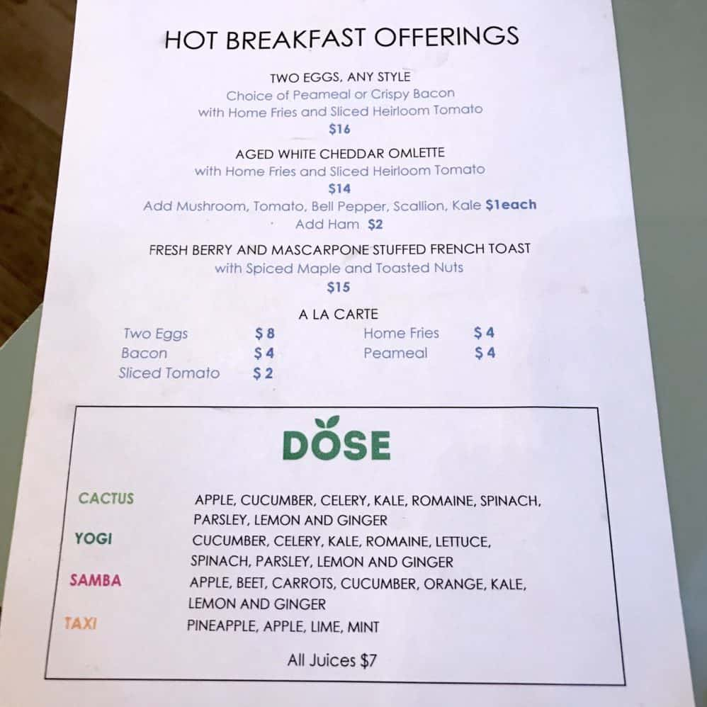 Le Germain Hotel Toronto Mercer breakfast