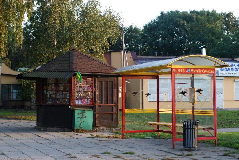 auschwitz oswiecim bus stop