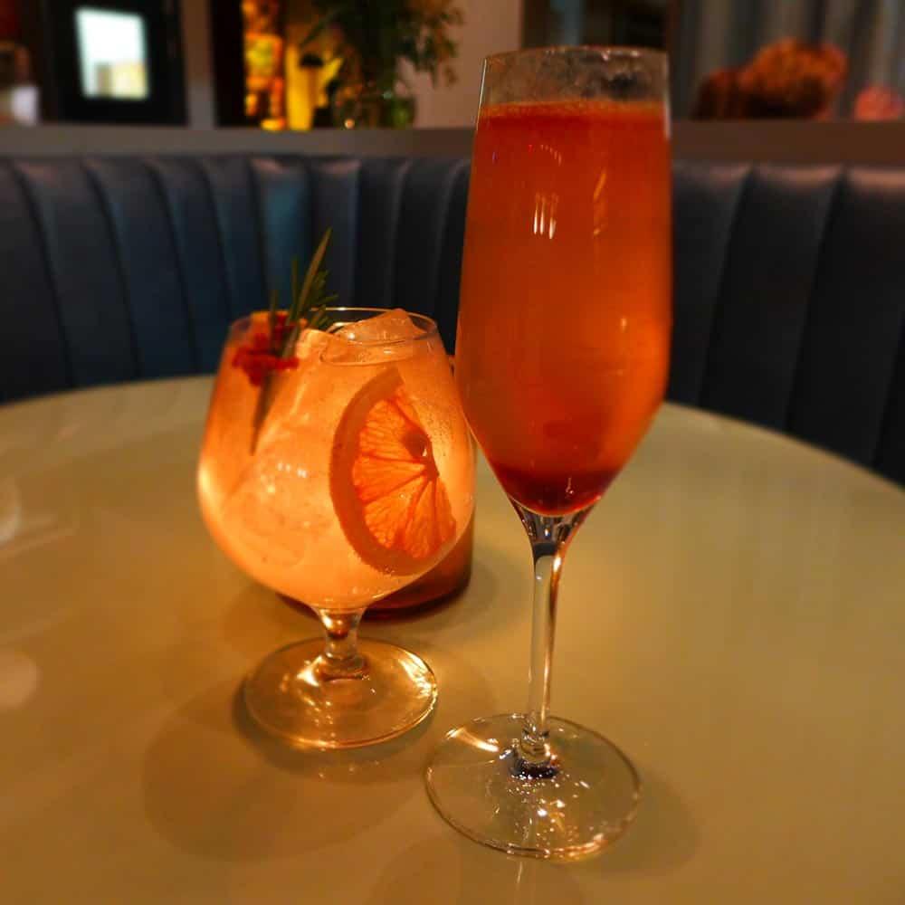 Cocktails at Victor Restaurant, Le Germain Mercer Hotel