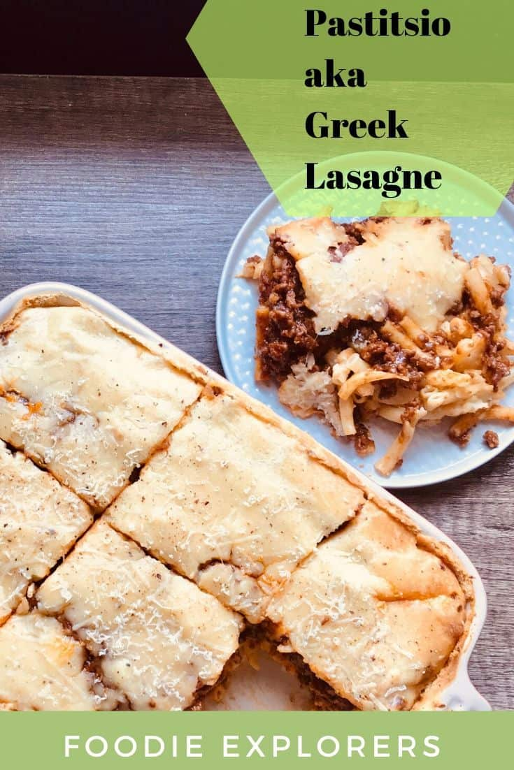 Pastitsio Greek lasagne recipe