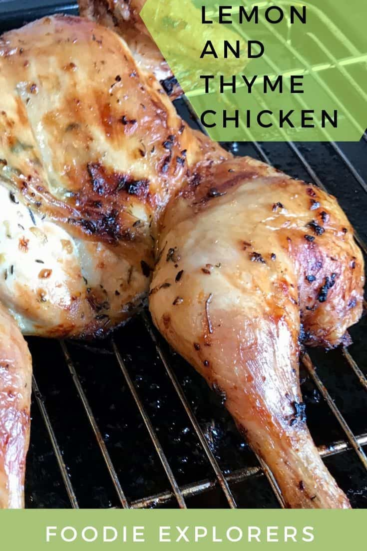 Lemon and thyme spatchcock chicken