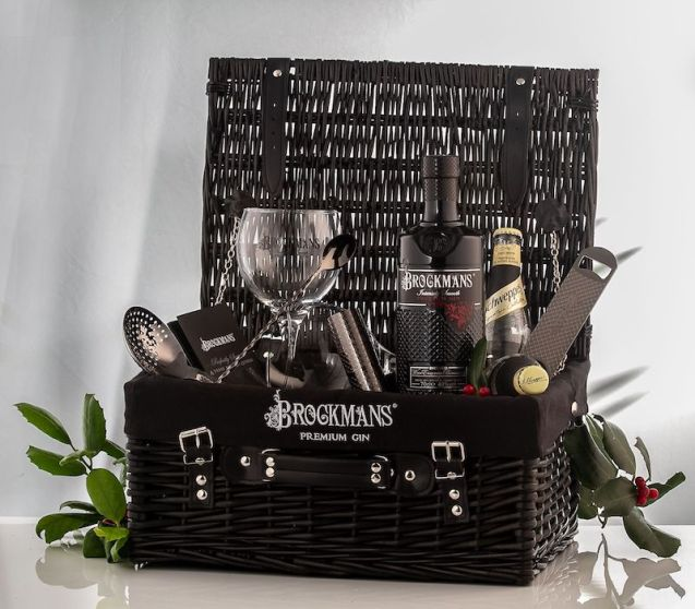 Brockmans Gin open hamper for Christmas
