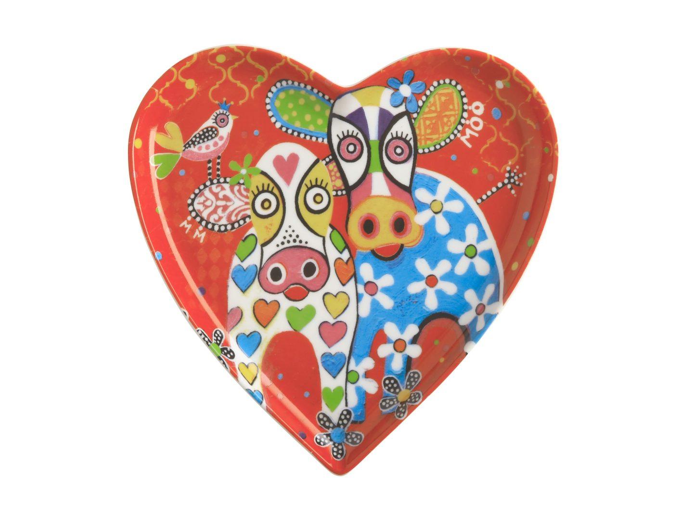 KitchenCraft Maxwell & Williams Love Hearts Ceramic Plate