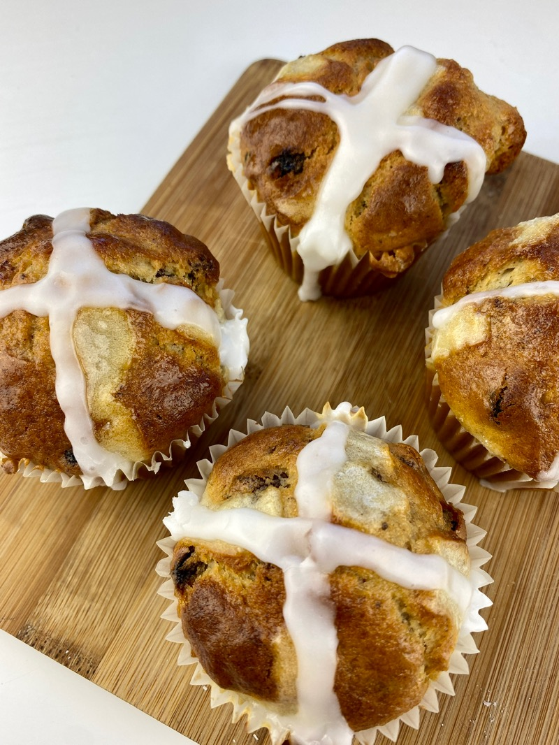 Hot cross muffins Buffins recipe for Easter