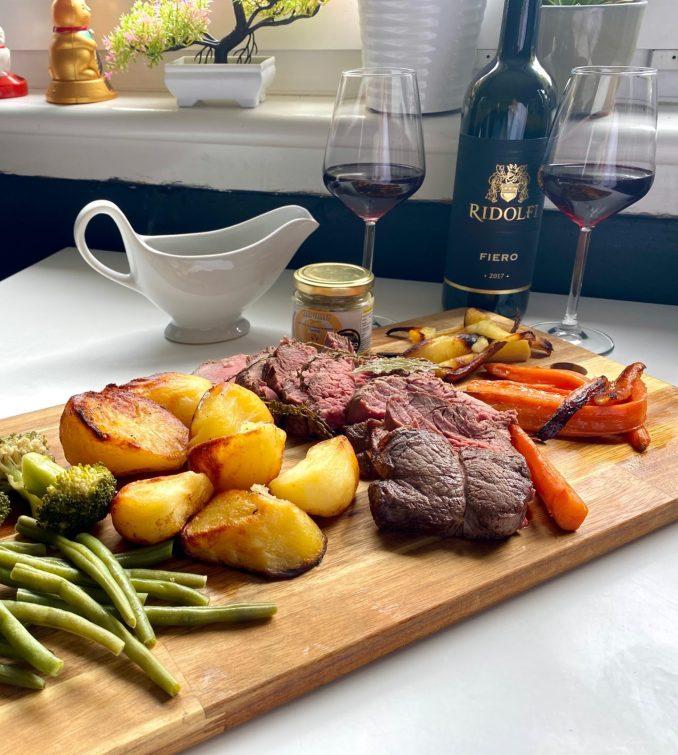 Noble house prepared roast beef fillet Sunday roast