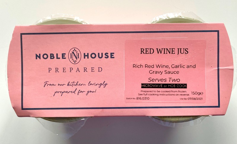 Noble house prepared Red wine jus