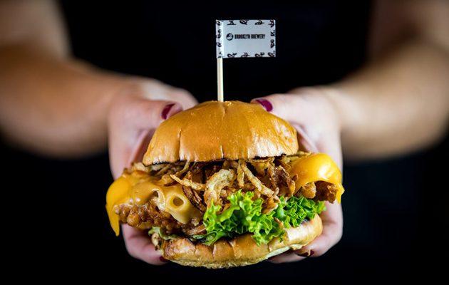 Revolution Bars Group Brooklyn Mac 'n' Chicken Burger