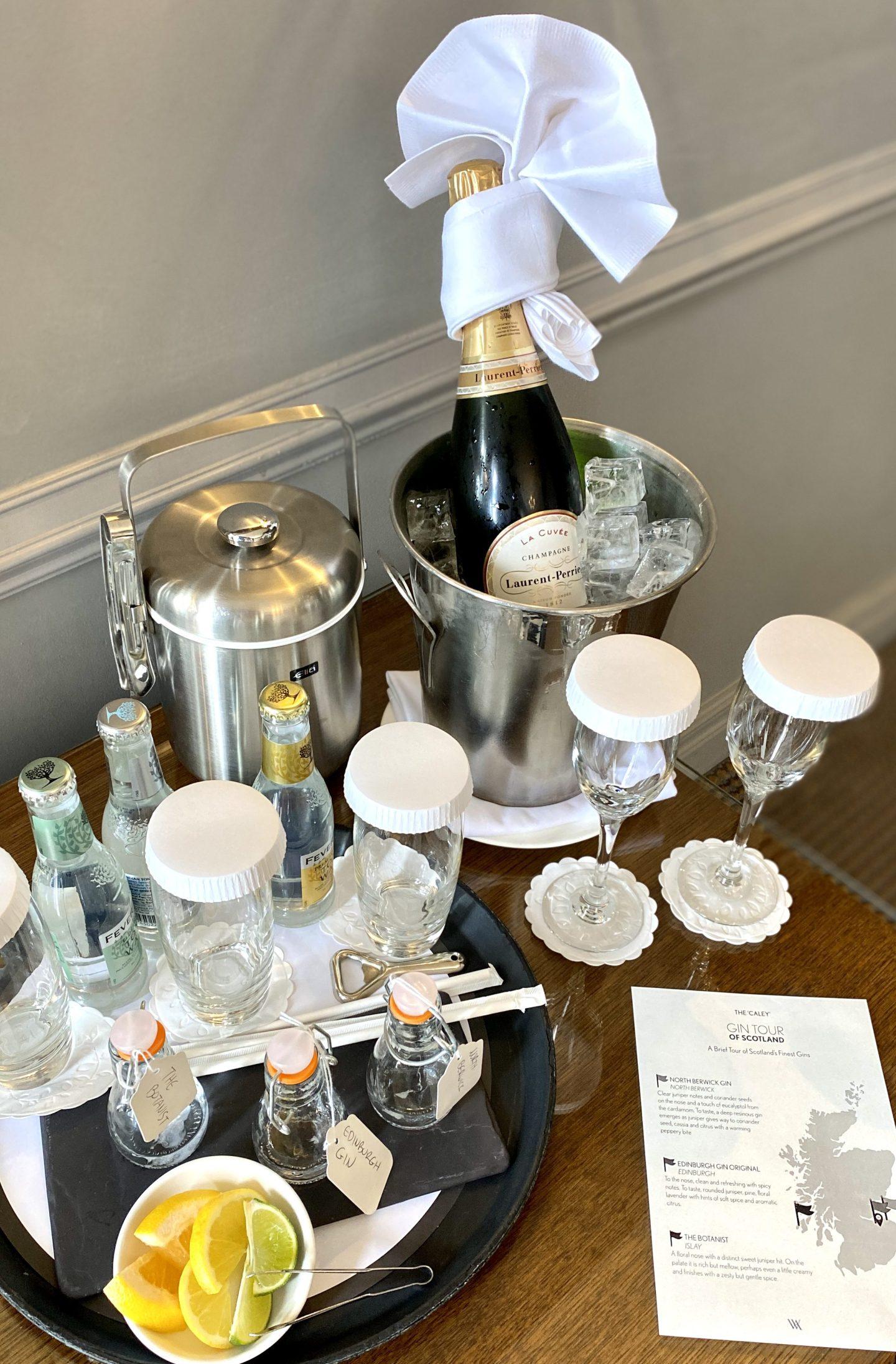 the caledonian Waldorf Astoria Edinburgh champagne gin