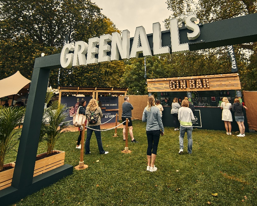 Greenall's pub in the park