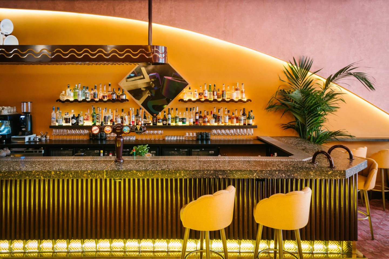 Inside superico bar and lounge Edinburgh