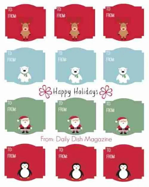 cute christmas animal gift tag printable daily dish magazine rlcge8nm