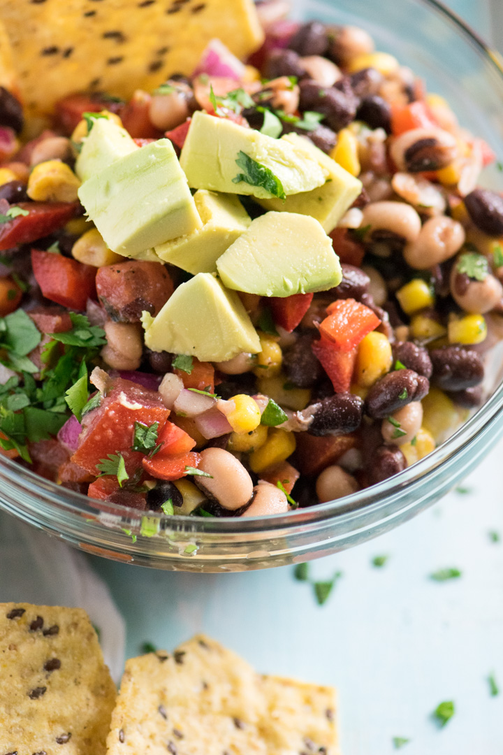 Healthy Cowboy Caviar with Red Wine Vinaigrette