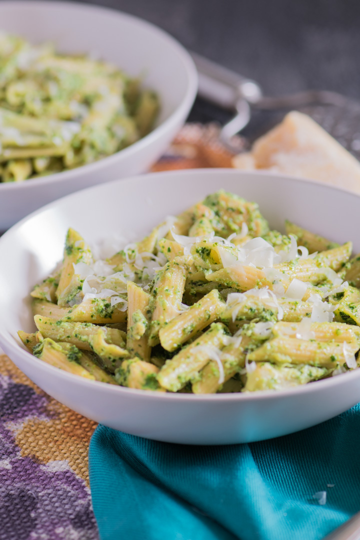 Chicken & Artichoke Pasta with Kale Pesto