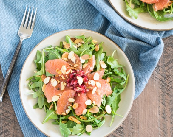 Pomegranate Grapefruit Winter Salad with Toasted Almonds